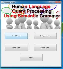 Human Language Based SQL Query Processing